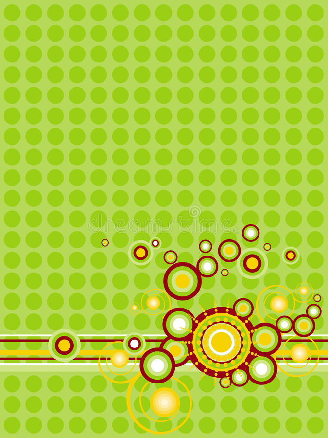 Greenish-yellow abstraction with circles royalty free stock image
