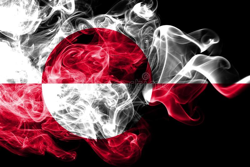 Greenladn rökflagga, Danmark beroende territoriumflagga royaltyfri illustrationer