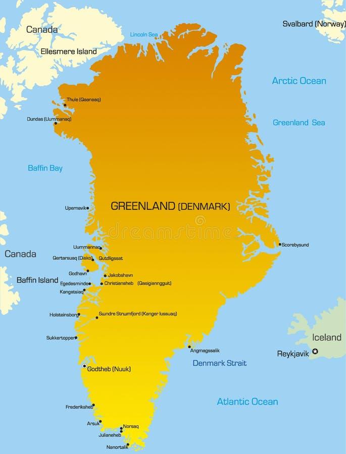 Greenland royalty ilustracja