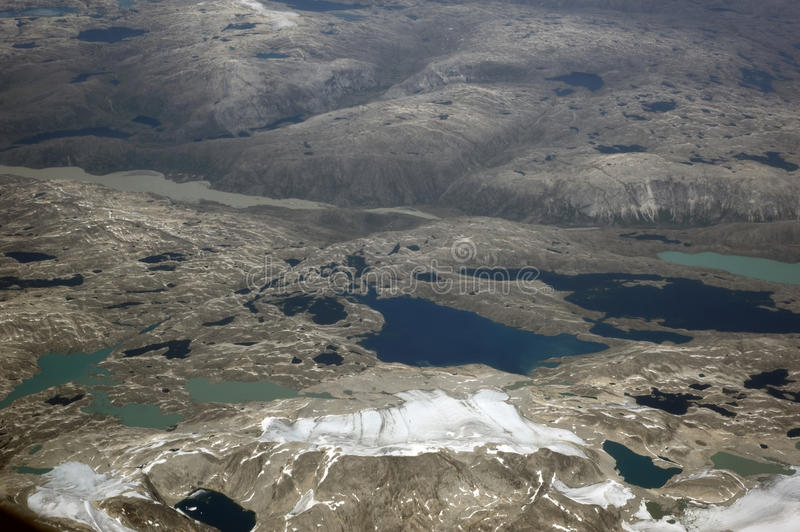Greenland, aerial view. Greenland under snow, aerial view royalty free stock image