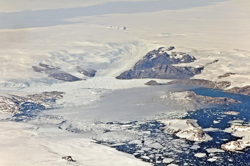 Greenland Glaciers,. Melt into sea royalty free stock photography