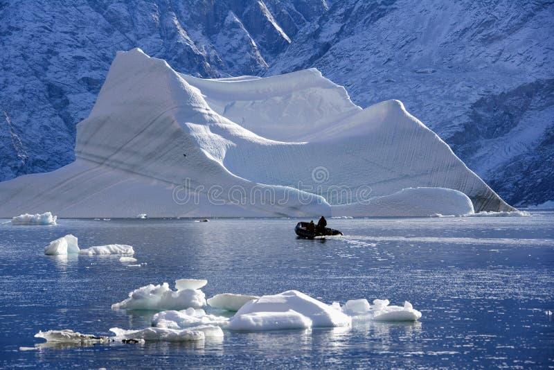 greenland isbergscoresbysund fotografering för bildbyråer