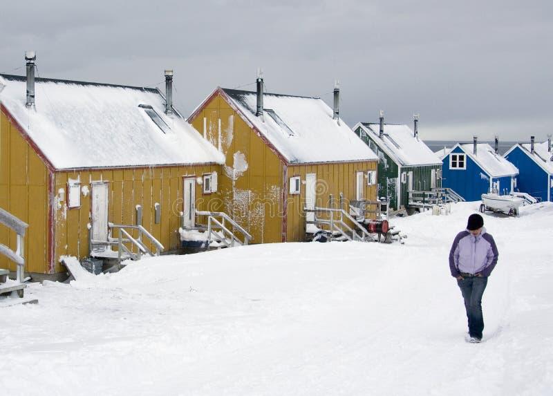 greenland ittoqqortoormiitscoresbysund arkivbilder