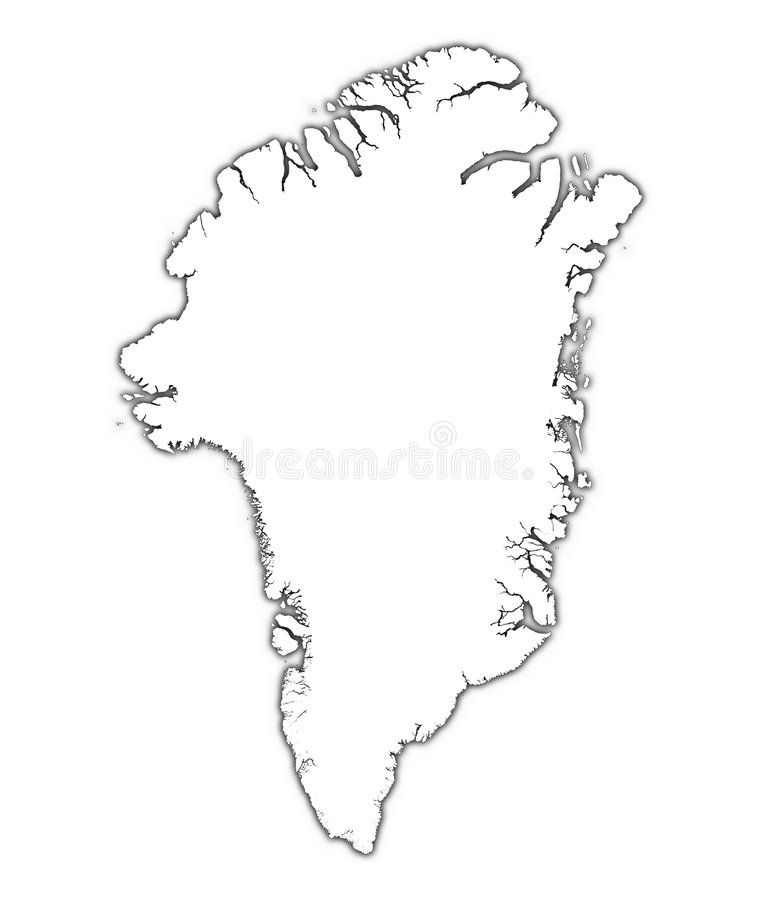 Outline Map Of Greenland Outline Map
