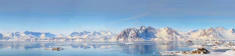 Greenland panorama obrazy royalty free
