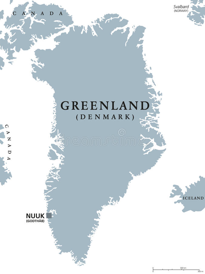 Greenland political map stock vector Illustration of cartography