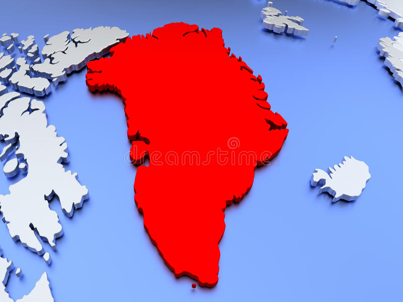 download greenland on world map stock illustration illustration of globe 78582616