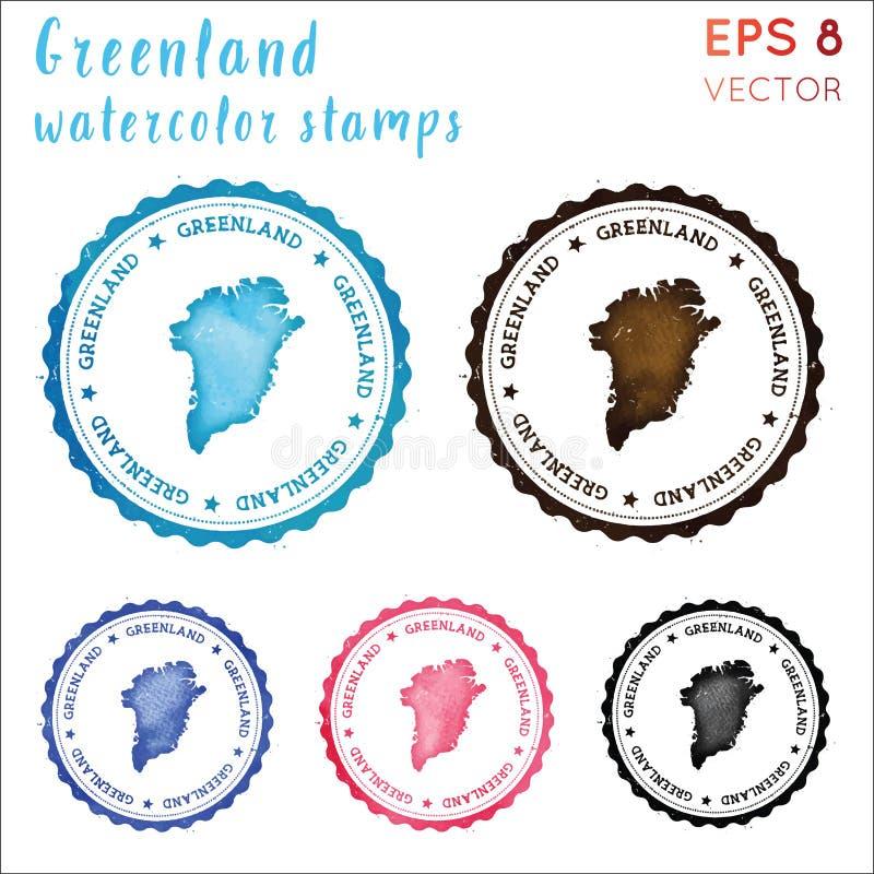 Greenland znaczek ilustracja wektor