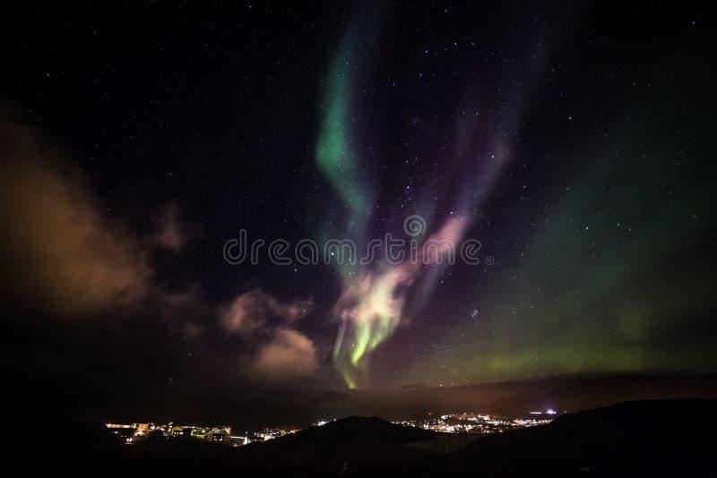 Greenlandic Nordlichter lizenzfreie stockfotos