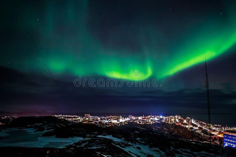 Greenlanic北极光 图库摄影