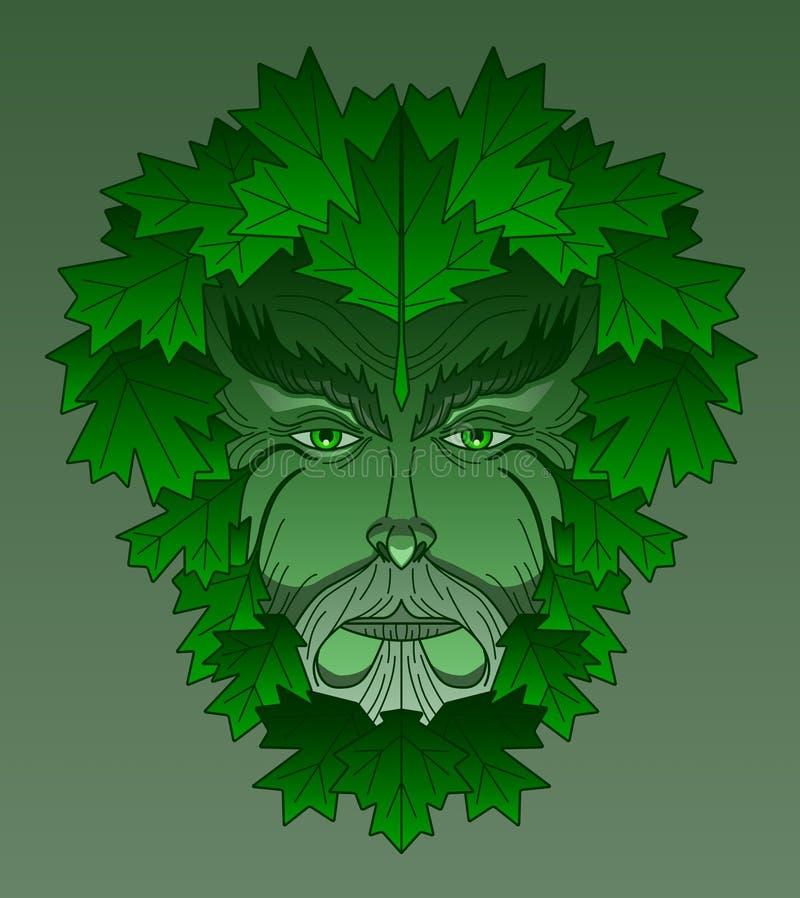 greenman σφένδαμνος διανυσματική απεικόνιση
