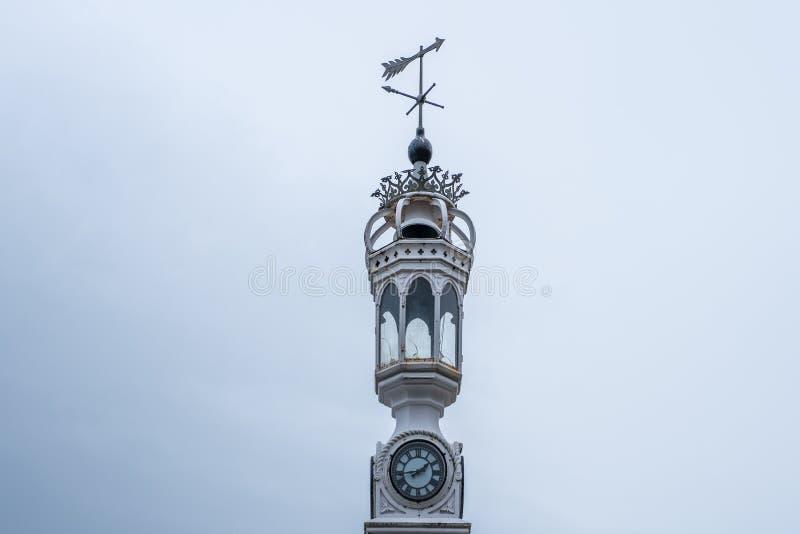 Greenock Dokonanego żelaza Zegarowy wierza Obyczajowy dom Greenock Szkocja zdjęcie royalty free