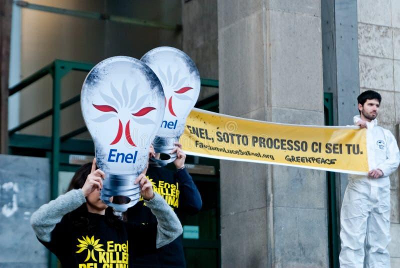Download Greenpeace Flash Mob Light Bulbs Editorial Stock Image - Image: 24300479