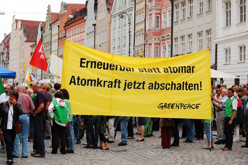 Greenpeace protest stock image