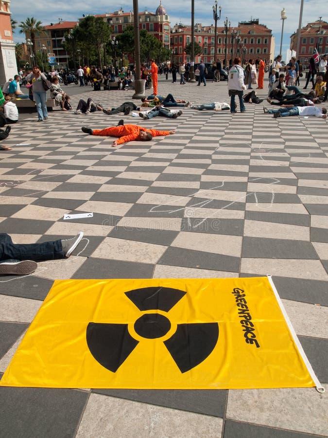 Greenpeace protesta, agradável fotografia de stock royalty free