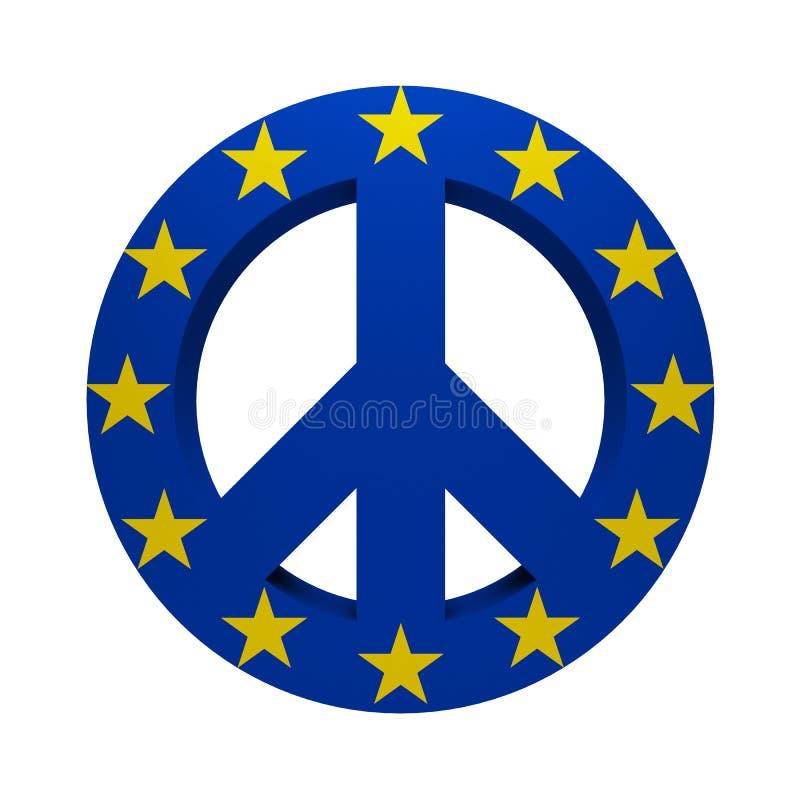 Greenpeace-Symbol malte Europa-Flagge lizenzfreie abbildung