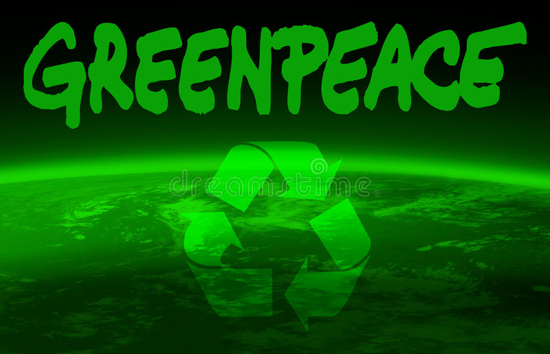 Greenpeace royalty free illustration