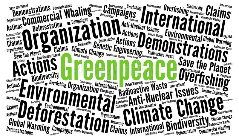 Greenpeace-Wortwolke vektor abbildung