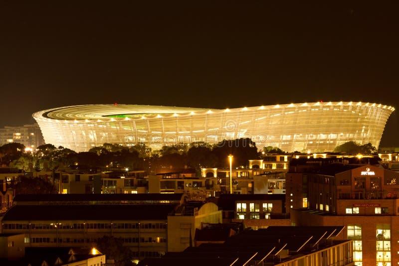 Greenpoint fotbollstadion Cape Town Sydafrika fotografering för bildbyråer