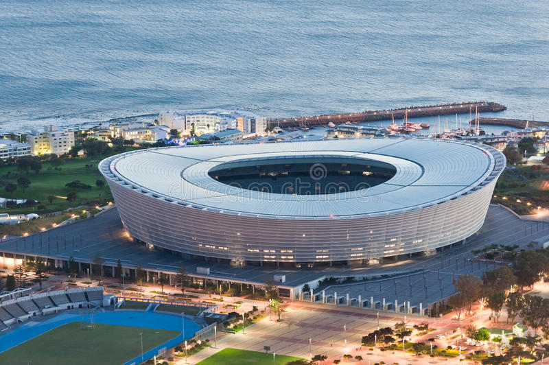 Greenpoint Stadium Capetown South Africa royalty free stock image