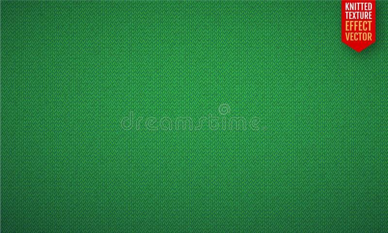 Greenrealistic编织纹理传染媒介无缝的样式 皇族释放例证