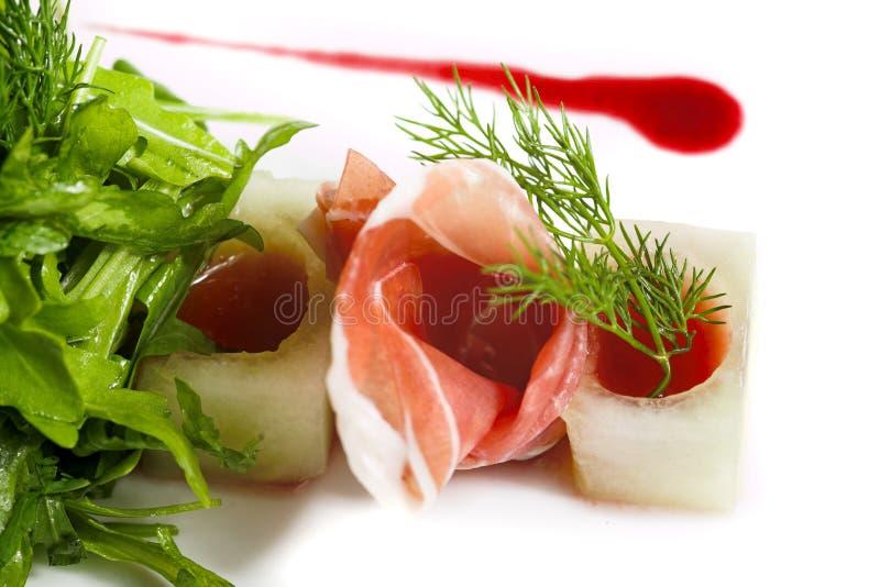 Greens and ham