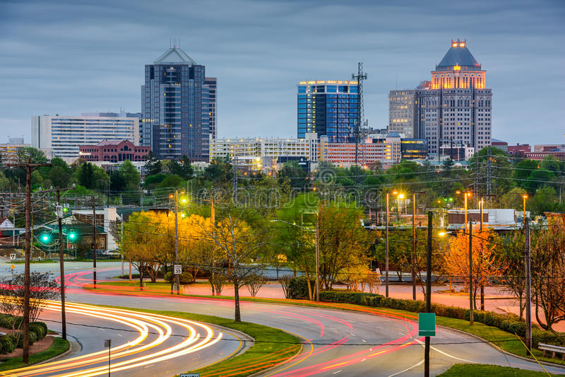 Greensboro Skyline stock photos