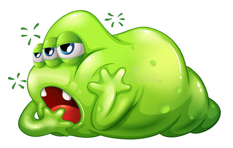 Download A Greenslime Monster In Boredom Stock Vector - Image: 34134201