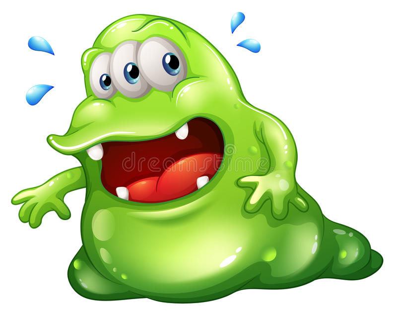 Download A Greenslime Monster Escaping Stock Vector - Image: 33141198