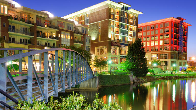 Greensville do centro, South Carolina foto de stock royalty free