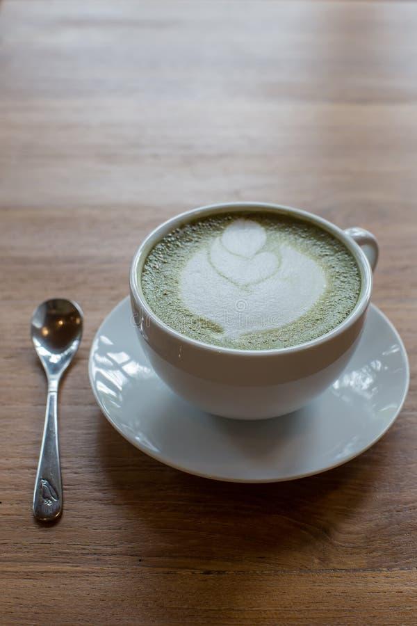 Greentea latte obraz stock