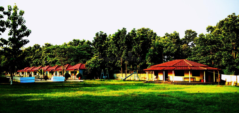 Greentech semesterort i gazipur, Bangladesh arkivfoton