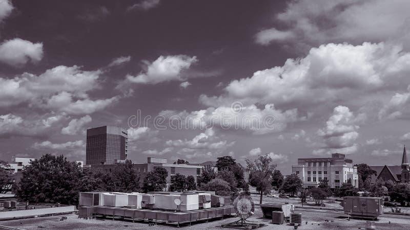 Greenville Carolina Black du sud et blanc photos libres de droits
