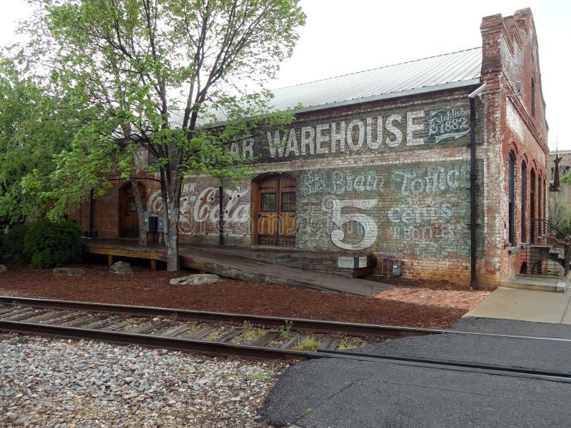 Greenville do centro histórico, South Carolina fotografia de stock royalty free