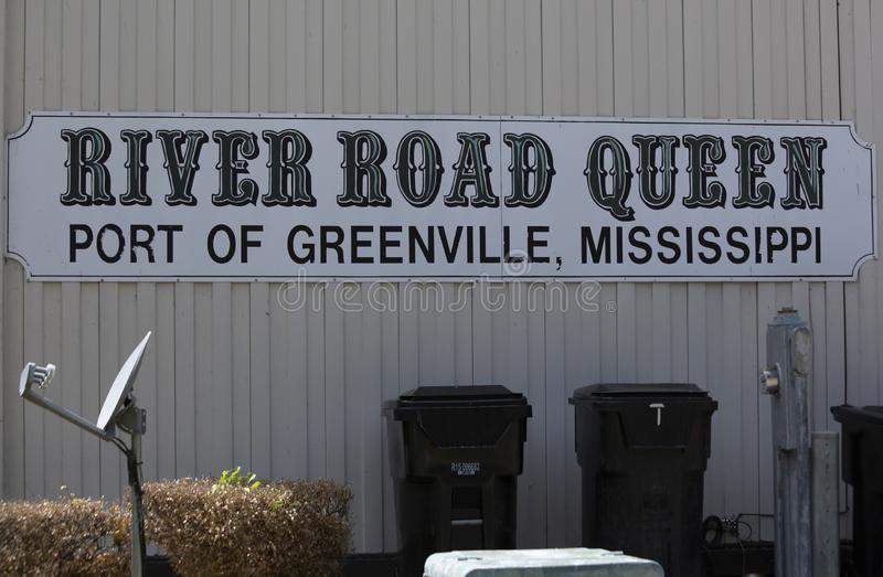 Greenville Mississippi/Förenta staterna - Juli 11: på Juli 11, 2016 i Greenville, Mississippi royaltyfria bilder