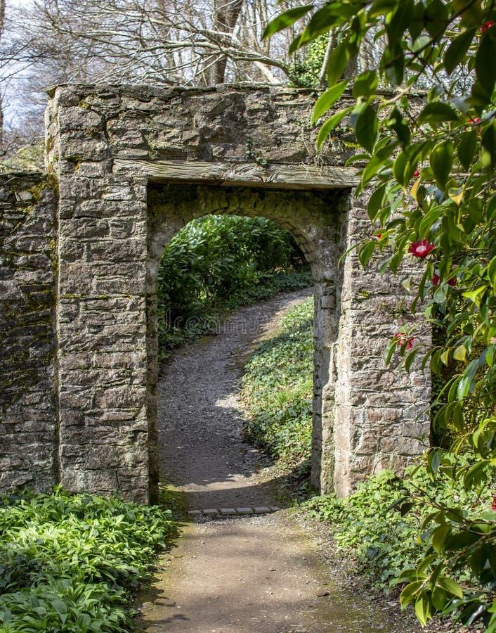 Greenwayhus nära Dartmouth Devon royaltyfri foto