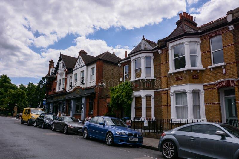 Greenwich bostads- fjärdedel royaltyfri foto
