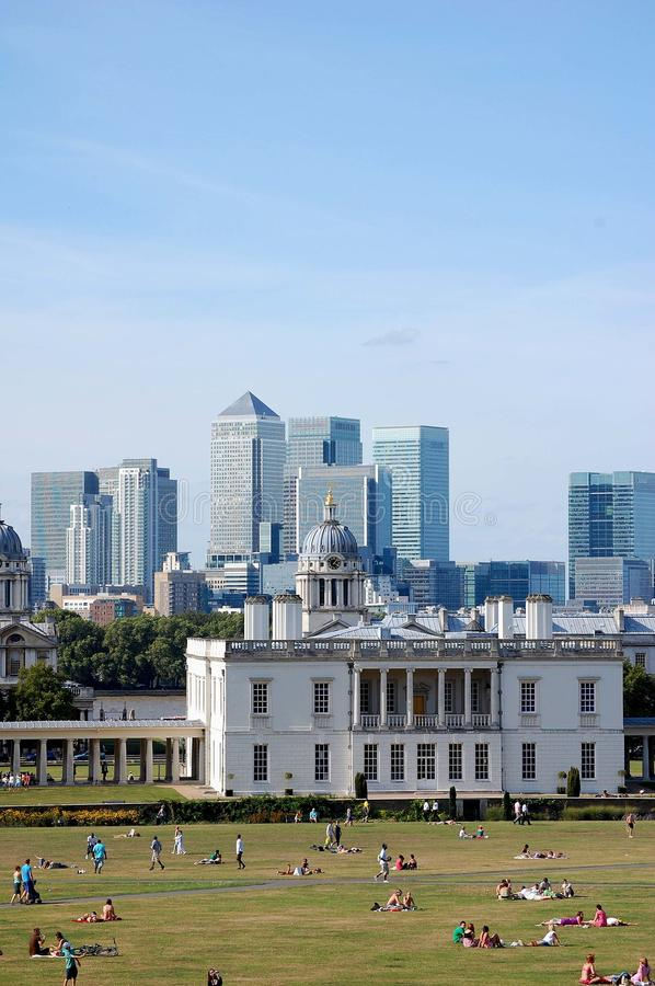 Greenwich and Canary Wharf royalty free stock photos