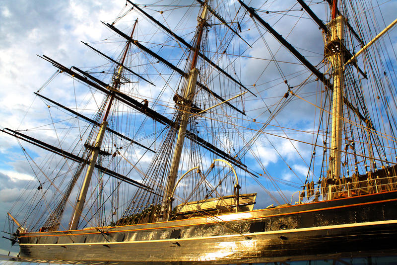GREENWICH LONDON CUTTY SARK arkivfoto