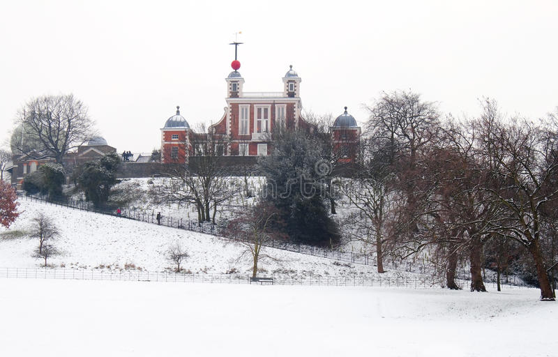 Download Greenwich Observatory In A Cold Winter Day Stock Image - Image: 12551459