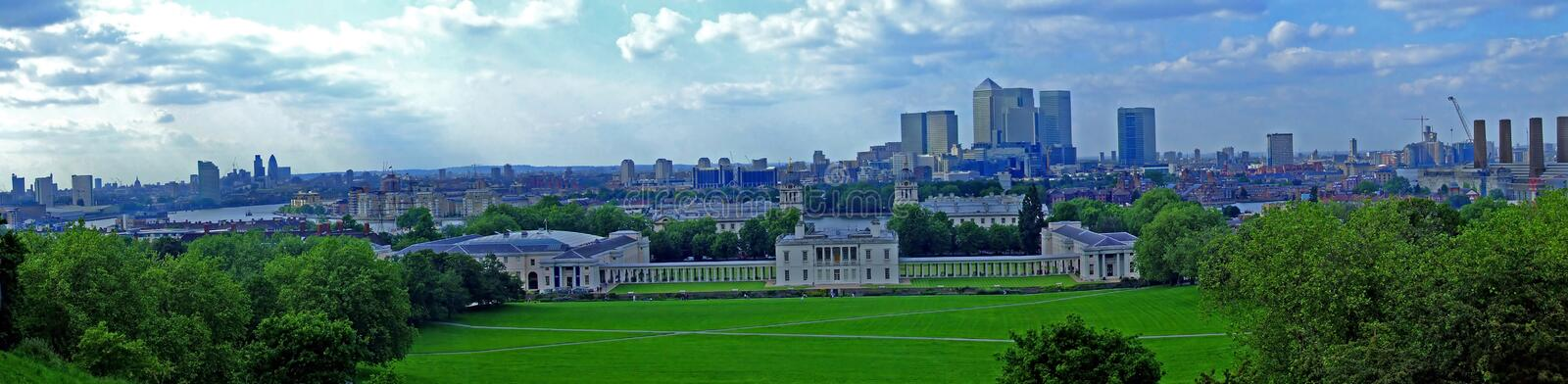 Greenwich-Panorama stockfoto