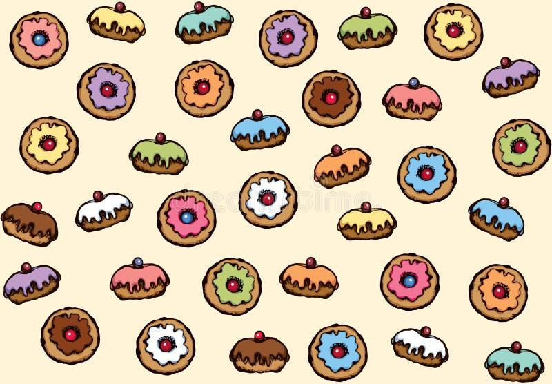 Donut. Vector drawing royalty free illustration