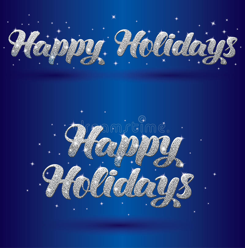 Greeteing Zeichen des Vektors frohe Feiertage stock abbildung