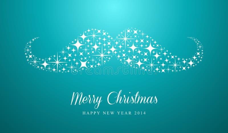 Greetin Hippie der frohen Weihnachten und des guten Rutsch ins Neue Jahr vektor abbildung