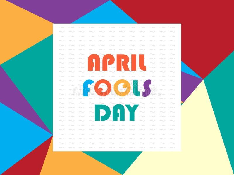 Greeting april fools day vector royalty free illustration