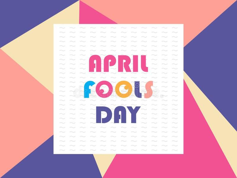 Greeting april fools day vector vector illustration