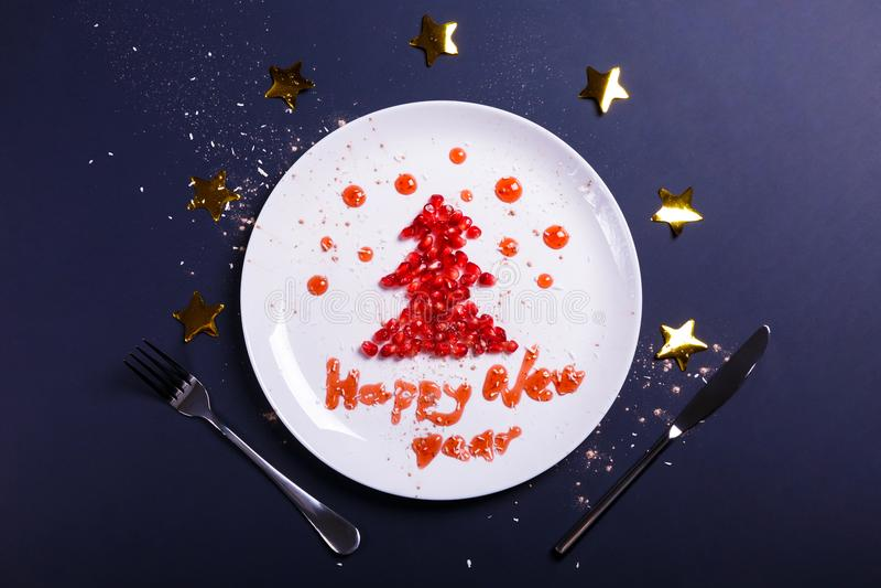greeting av nytt år royaltyfri foto