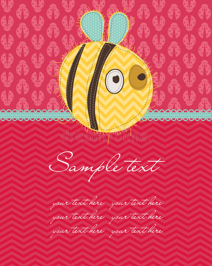 Greeting baby card. Pretty Simple Greeting baby card vector illustration