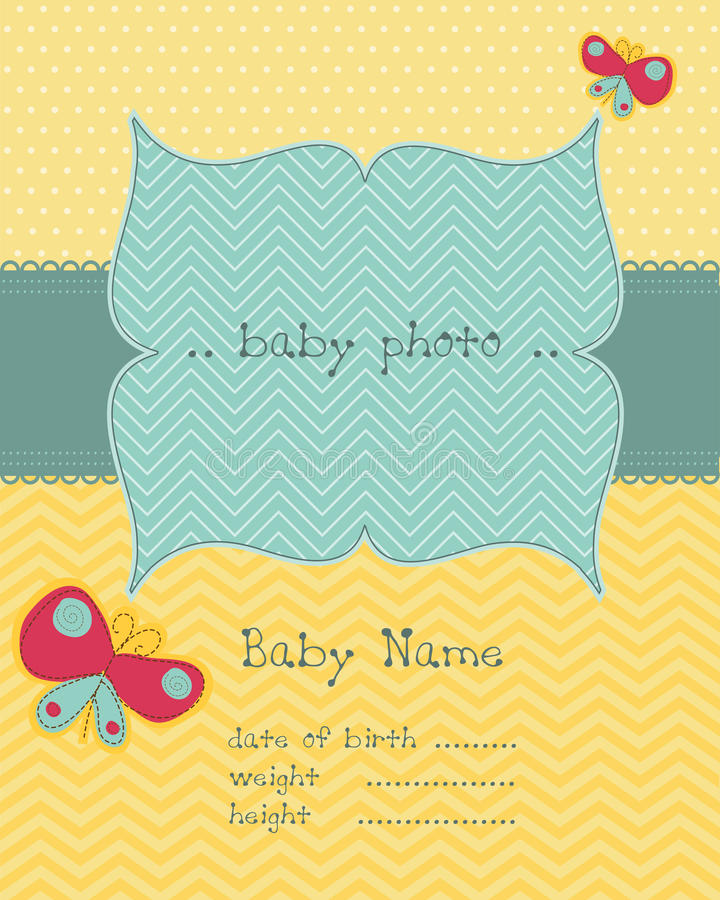 Greeting Baby Card Royalty Free Stock Images