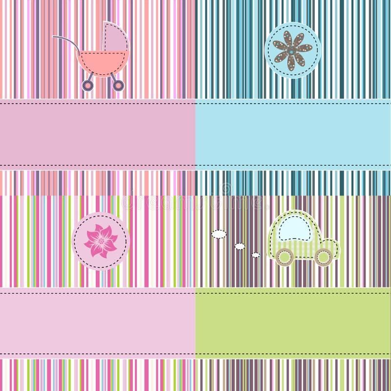 Free Greeting Background Set Royalty Free Stock Image - 20387196